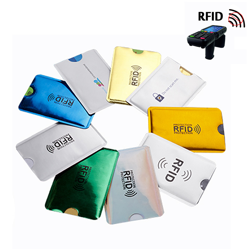 5Pcs Anti Rfid NFC Wallet Blocking Reader Lock Bank Card Holder Id Bank Card Case Protection Metal Credit Card Holder Aluminium