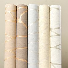 Modern Simple 3D Wallpaper TV Background Bedroom Living Room Wallpaper Curve Stripe Non-Woven Film And Television Wallpaper W80