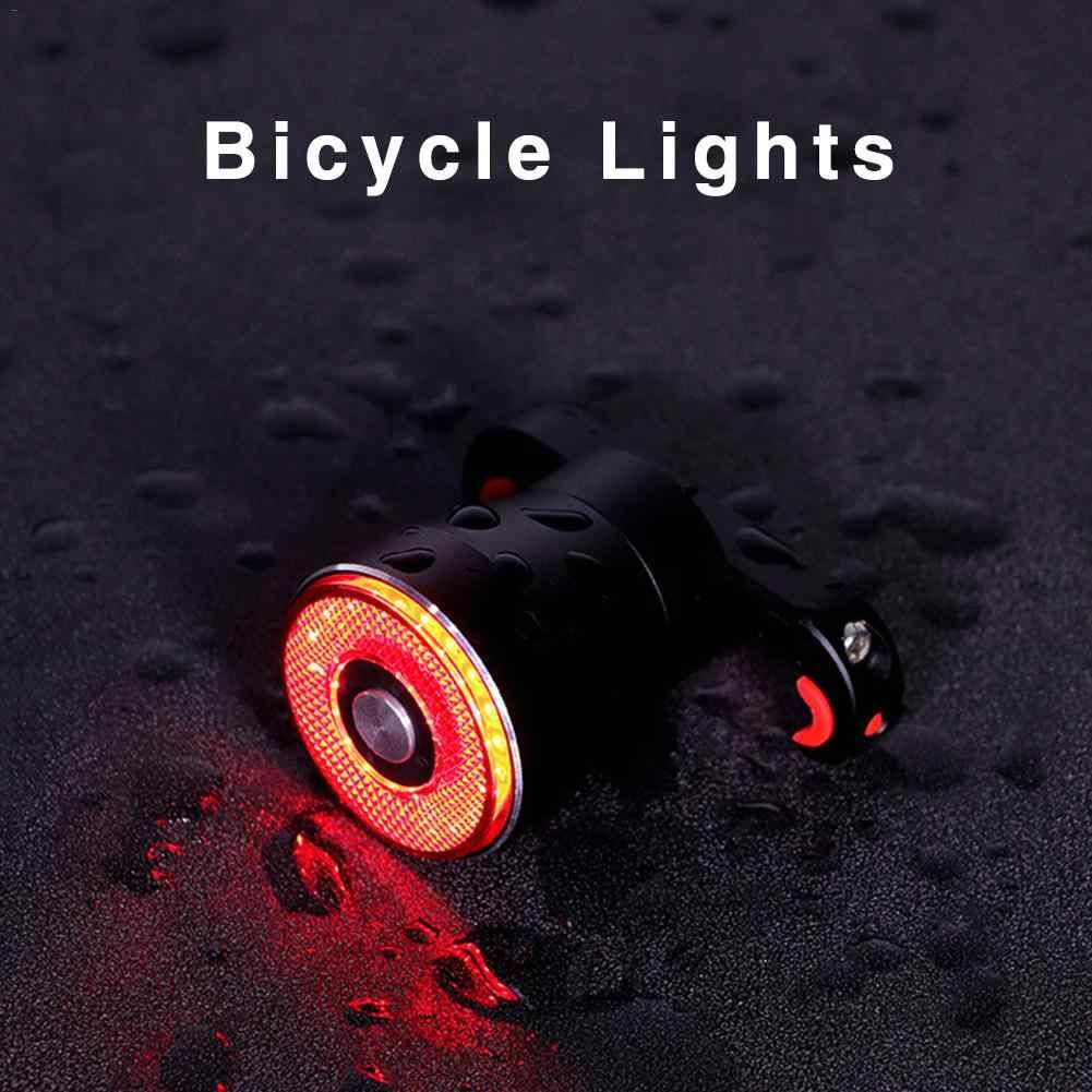 Q5 интеллектуальные габаритные огни для велосипеда супер яркая Водонепроницаемая светодиодная фара для велосипеда свет ночной езды велосипед задние фонари