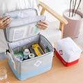 Складная аптечка, комплект контейнера для домашнего хранения, медицинская коробка большой емкости, многофункциональная многослойная меди...