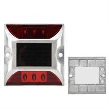 6 светодиодный наземный маркер на солнечной энергии, светильник s, водонепроницаемый уличный дорожный светильник на солнечной энергии, наземный светильник