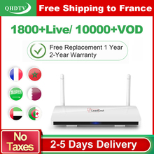 LEADCOOL 1G+8G IPTV Media Player Smart Android TV Box with QHDTV 1 Year 1300+ HD IPTV French Arabic Europe Channels Subscription lastest box android iptv box rk3328 quad core with 1 year iptv europe usa uk italy iptv channels hd wifi smart tv media player
