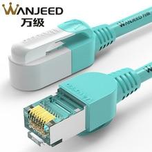 Wanjeed cat6a cat7 cabo de remendo 10g transmissão 8p8c rj45 revestimento lszh banhado a ouro para cabo lan cat6a cat7 ethernet