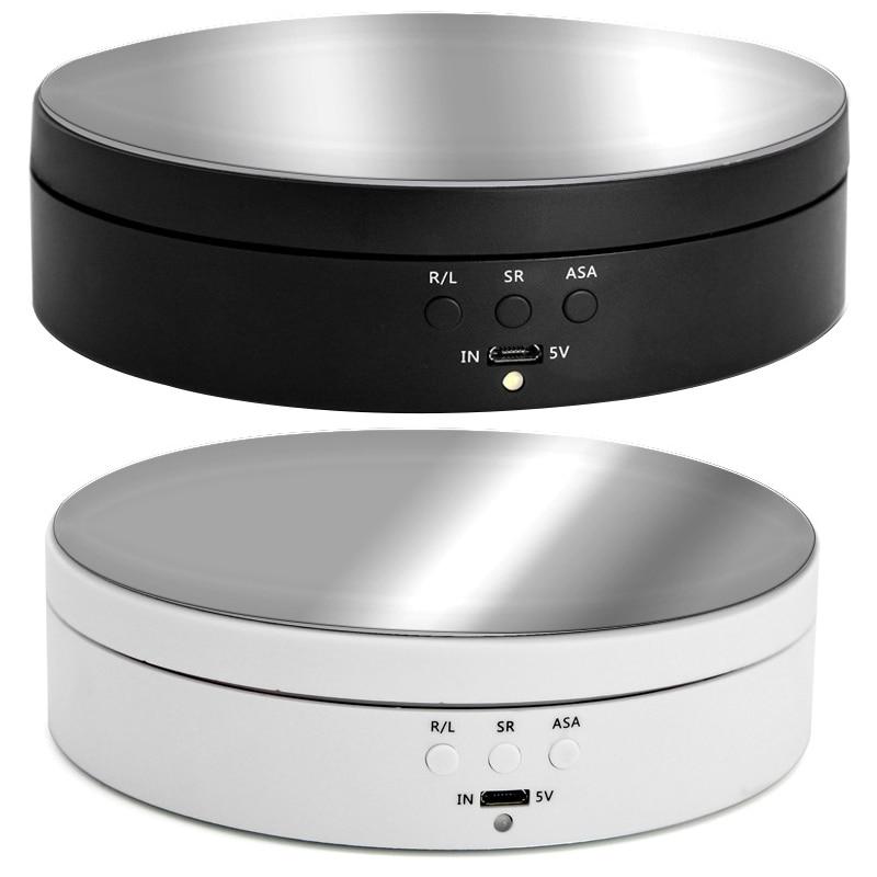 Регулируемая скорость фотографии Вращающийся дисплей Стенд 360 градусов Электрический вращающийся продукт дисплей поворотный стол для вид...