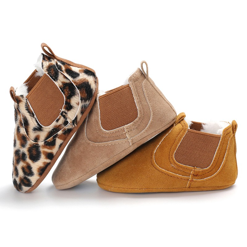 2019 Baby PU Leather Shoes Toddler Moccasins Leopard Print Baby Shoe Non-slip First Walkers Shoes For Newborn Boys Girls