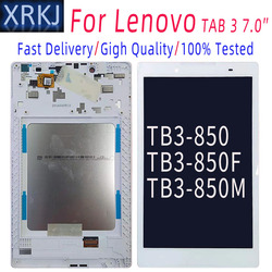 For Lenovo Tab 3 TAB3 8.0 Tb3-850 TB3-850M TB3-850F ZA17 LCD Display Touch Screen Digitizer Glass Assembly + Frame