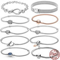 CodeMonkey Hot Sale Classic Series 100% 925 Sterling Silver Heart Bracelet Fit Original Beads Charms DIY Jewelry Gift For Women