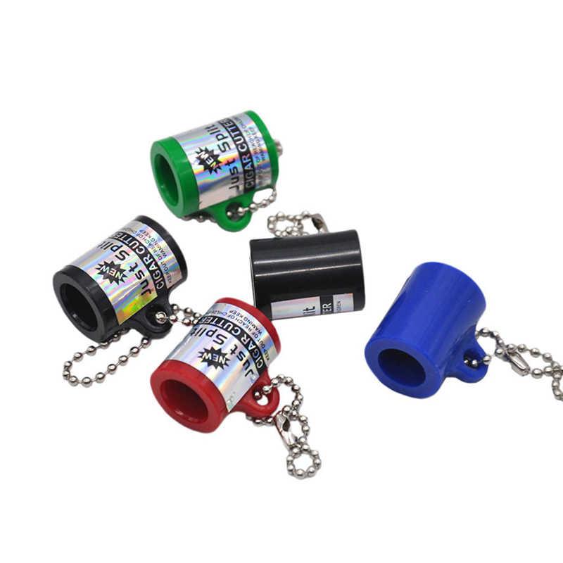 Neue Cigarillo Zigarre Cutter Stumpfen Splitter Schlüssel Kette Rauchen Rohre Zigarette Zubehör Geschenk