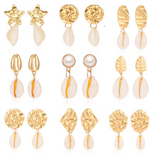 Cherry Nickel Free Earrings for women 2019 Shell Gold Dangle Earing Female Statement Brincos Fashion Jewelry