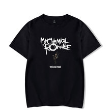 My Chemical Romance T-shirts Cool And Fashion Women/men Basic Round O Neck Short Sleeve T Shirts Hipster Funny Big Size 4XL