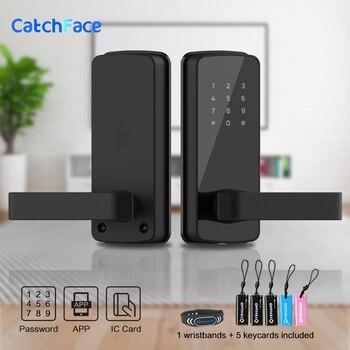 Cerradura electrónica sin llave cerradura inteligente APP tarjeta rifd Bluetooth Digital cerradura de la puerta de casa y apartamento de seguridad
