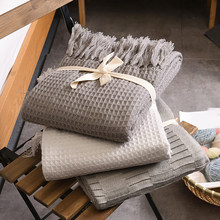 Knitted Wool Blanket for Beds with Tassel Manta Cobertor Chunky Knit Blankets Sofa Plaid Christmas Decoration for Home blanket