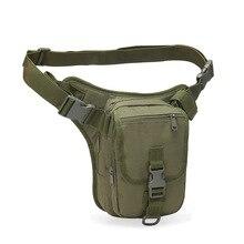 Mens Drop Retro Canvas Sports Racing Tactical Leg Bag Durable Outdoor Waist Fanny Thigh Pack Practical Pouch