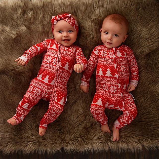 Комплект одинаковых рождественских пижам для всей семьи; одежда для сна для маленьких мальчиков и девочек; одежда для сна; подарки; комплекты для сна - Цвет: 12 Months Romper