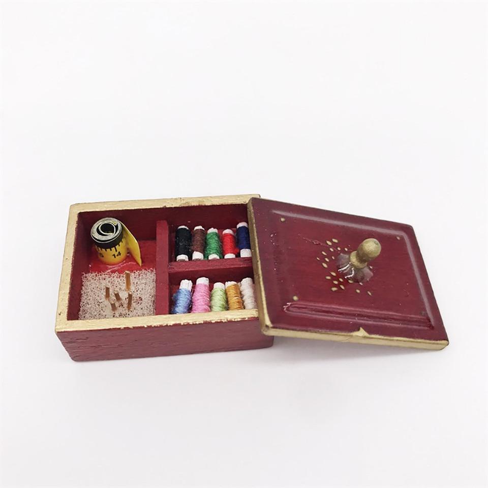 Vintage Sewing Needlework Needle Kit Box 1:12 Dollhouse Miniature Mini DecorWCP