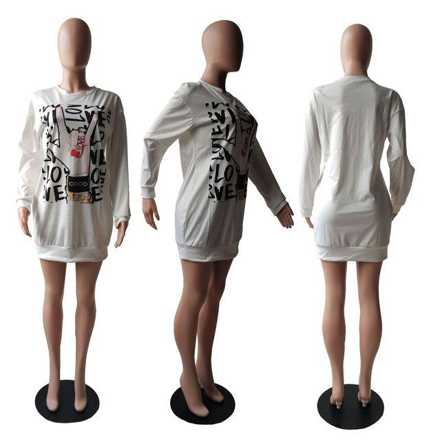 буквенным принтом «love» с в стиле харадзюку футболка платье фотография