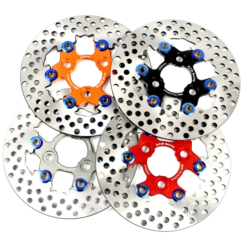 Motorcycle Rear Brake Disc <font><b>Rotor</b></font> Modified brake floating disc for motorcycle <font><b>200mm</b></font> image