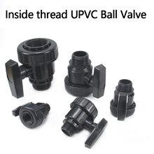 Female-Male Thread UPVC Ball Valve Aquarium Tank PVC Pipe Globe Valve Union Garden Irrigation Water Pipe Connectors 1 Pcs