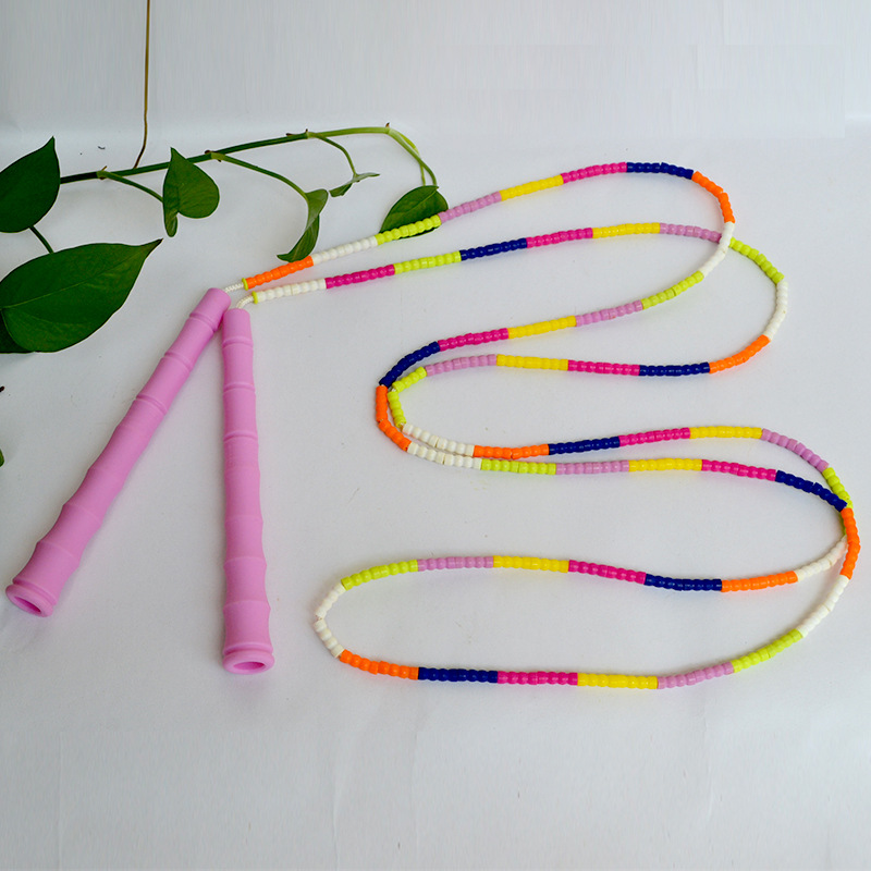 Profession Children Speed Bamboo Joint Jump Rope Students Game Sports Rope Beads Not Plastic For Both Men And Women Long Rope