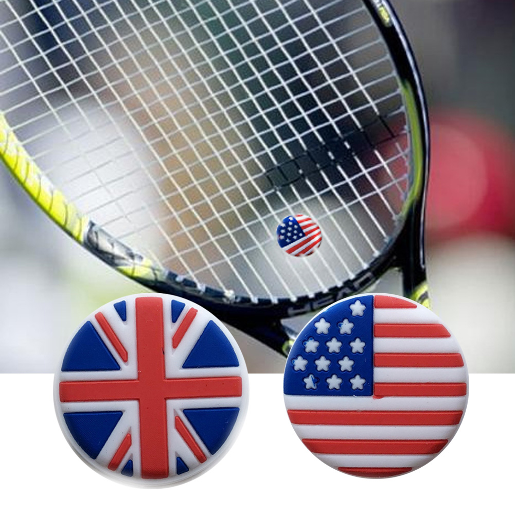 1pc  Flag Tennis Damper Elastic Tennis Accessory Silicone Outdoor Sports Racquet Shock Absorber Shock Absorber