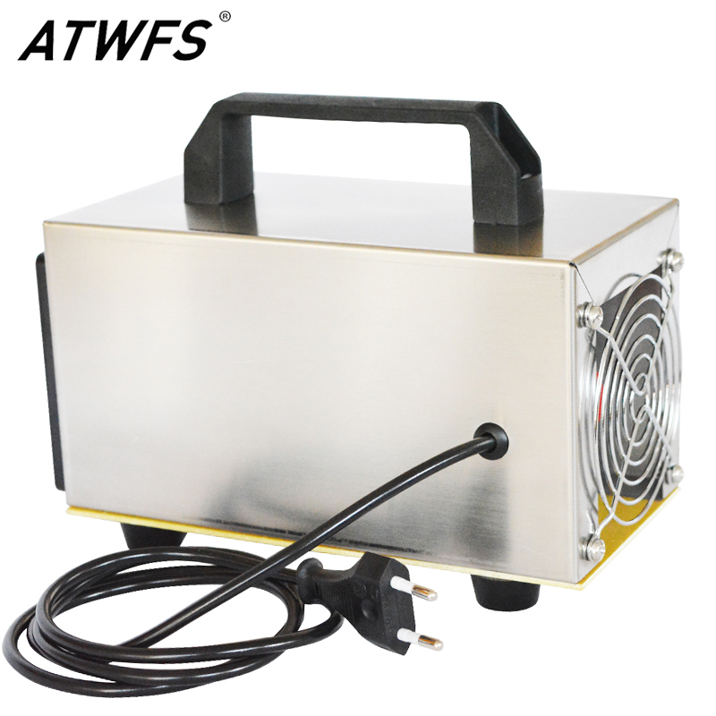 ATWFS Ozone Generator 220V 24g Air Purifier Portable Ozonator Machine Ozonio Air Cleaner Ozonizer Disinfection Formaldehyde
