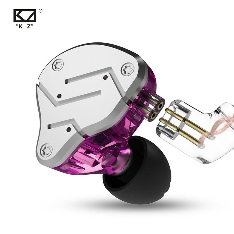 KZ ZSN Metal Earphones Hybrid Technology 1BA+1DD HIFI Bass Earbuds In Ear Monitor Headset Sport Noise Cancelling Headphones