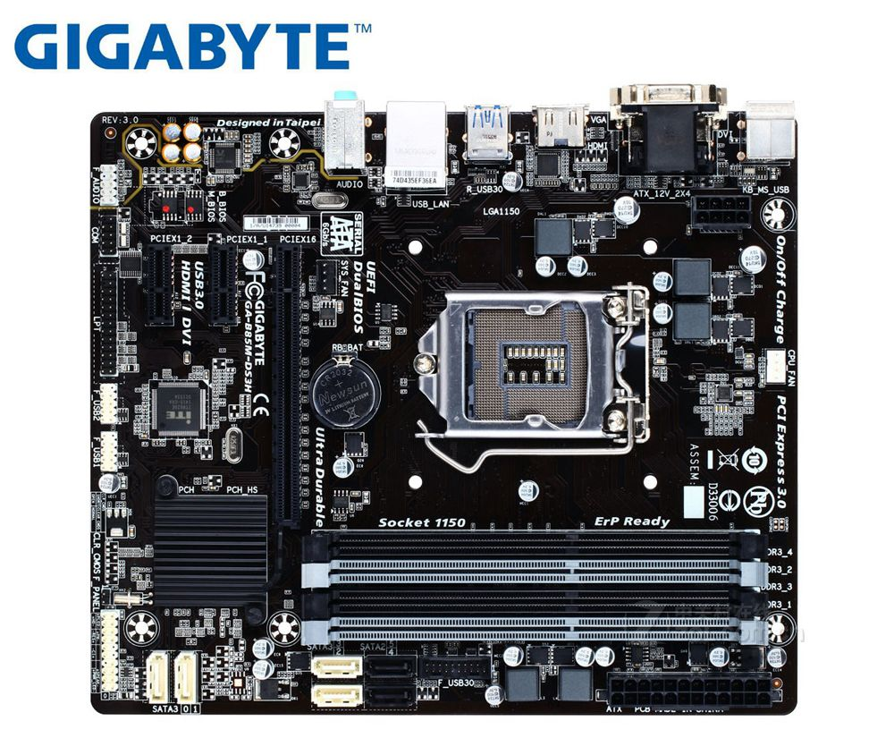 Gigabyte GA-B85M-DS3H Desktop Motherboard For Intel  LGA 1150 DDR3 32GB B85M-DS3H B85 Used Mainboard PC Boards