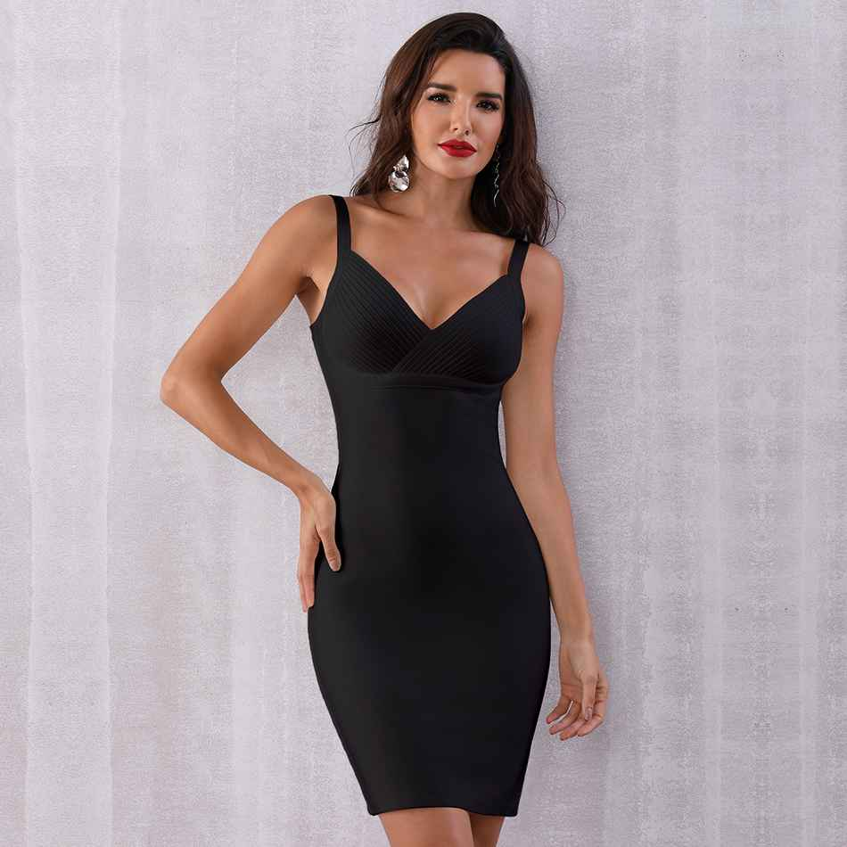 Seamyla Bandage Dresses Women 2019 New Bodycon Night Out Club Evening Party Dress Sleeveless White Black Summer Dress Vestidos in Dresses from Women 39 s Clothing