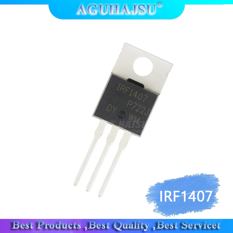 10PCS IRF1407 TO-220 IRF1407PBF TO220 100A 75V N-Channel