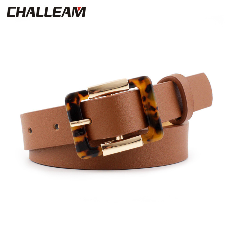 New Women PU Leather Belt For Female Strap Casual All-match Ladies Adjustable Belts Designer High Quality Brand 388