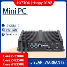 كمبيوتر صناعي إنتل Corei7 8565U i5 8250U سطح المكتب 5250U Win10 لينكس i3 Minipc إنتل NUC 4K HD RS232 RS485 الشخصية المحمولة pc