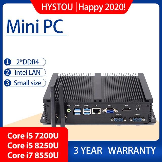 מחשב תעשייתי Intel Corei7 8565U i5 8250U שולחן העבודה 5250U Win10 לינוקס i3 Minipc Intel NUC 4K HD RS232 RS485 אישי נייד מחשב
