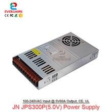 JPS300P 5.0โวลต์60A LEDหน้าจอแสดงผลแหล่งจ่ายไฟพิเศษ300วัตต์นำสลับไฟฟ้า