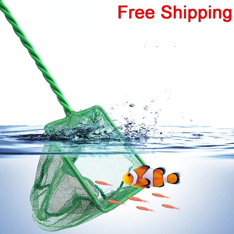 Aquarium Net Fish Tank Net Round Square Fish Fishing Aquarium Copy Net Aquarium Accessories Fishing Net Green