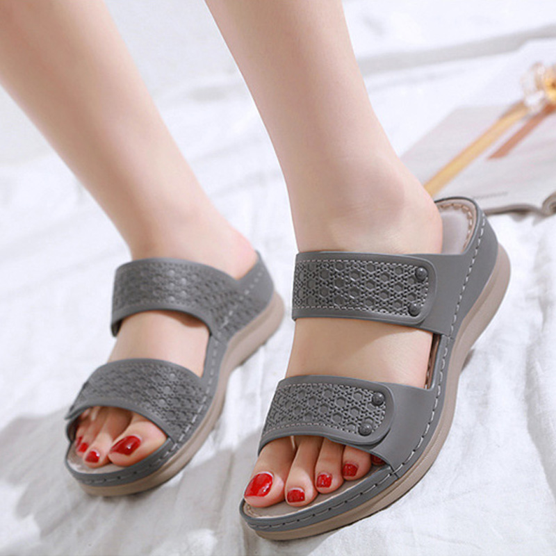 2020 Summer Holiday Shoes Women Sandals Casual Women Beach Sandals Fashion Ladies Summer Sandal Wedge Heel 5cm Plus Size A2118 Middle Heels Aliexpress