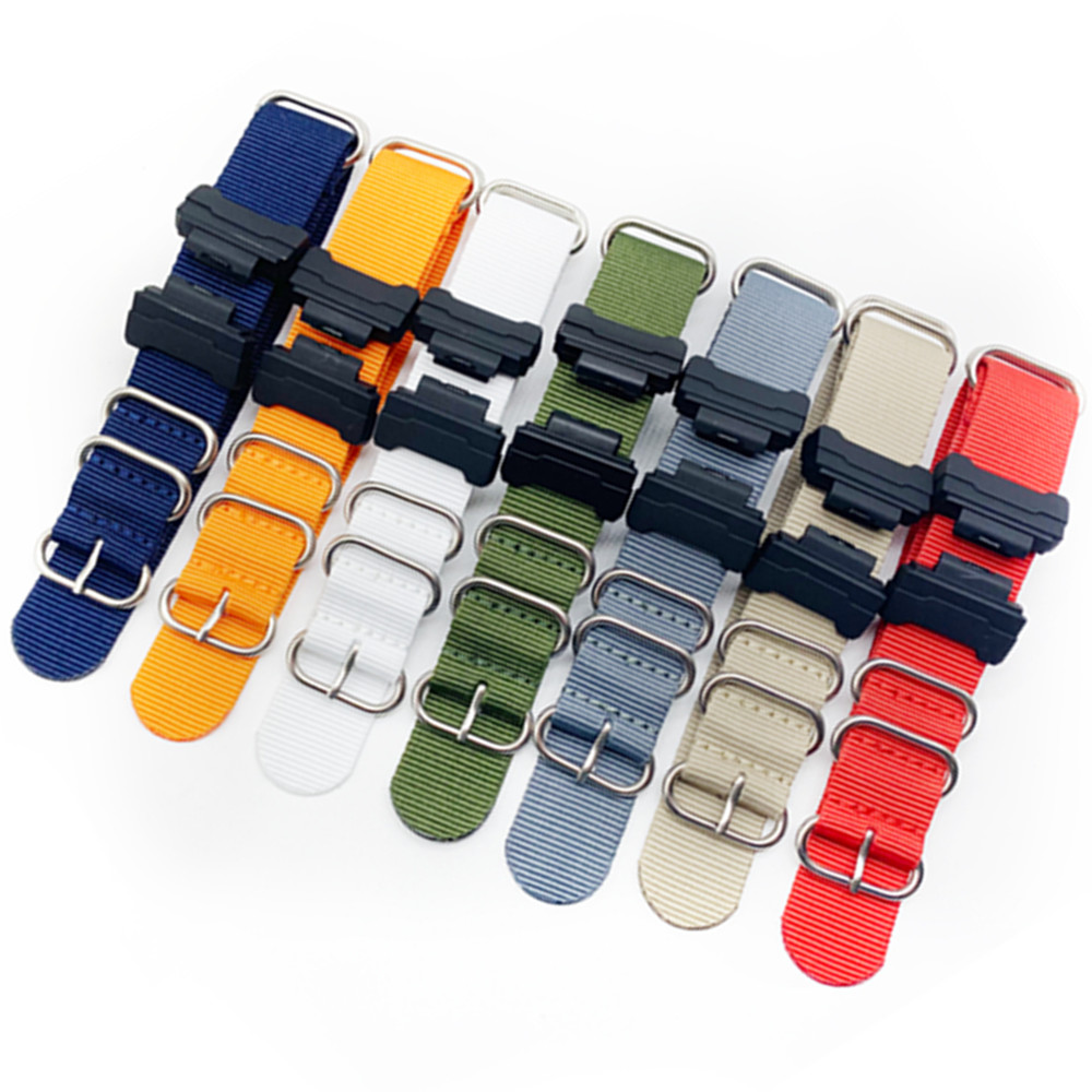 Replacement Parts fits Nylon Zulu Watch Band For G-Shock <font><b>DW</b></font>-5600 <font><b>DW</b></font>-6900 G-<font><b>5700</b></font> GA-100 GDF-100 GL-7200 and GLS-5600 Series image