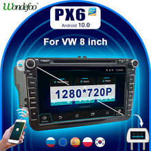 PX6 2 DIN Android 10 auto radio Für Seat Altea Leon Volkswagen VW Passat b6 POLO golf 5 6 touran CC 2din autoradio stereo audio