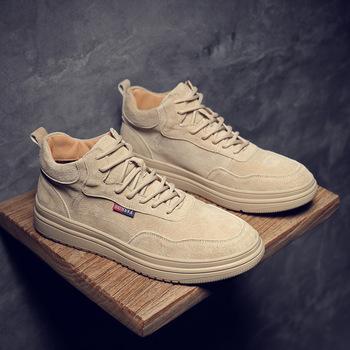 Nowe buty Martin buty rekreacyjne buty za kostkę wersja koreańska uniwersalne buty moda męska buty odzież robocza buty deskorolkowe męskie tanie i dobre opinie NoEnName_Null Podstawowe Połowy łydki Stałe Okrągły nosek RUBBER Med (3 cm-5 cm) Szycia Adult XZ20016 Genuine leather