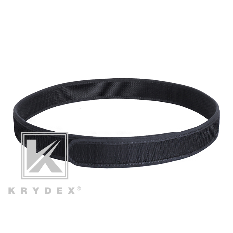 "Krydex Buckleless Hook Duty Inner Belt 1.5"" Loopback Hook Tactics Hunting Shooting Nylon Liner Inner Belt Bk S XXL Accessories|  - title="