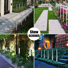 Solar Power Tube Lights Acrylic Bubble Pathway Lawn Lamps