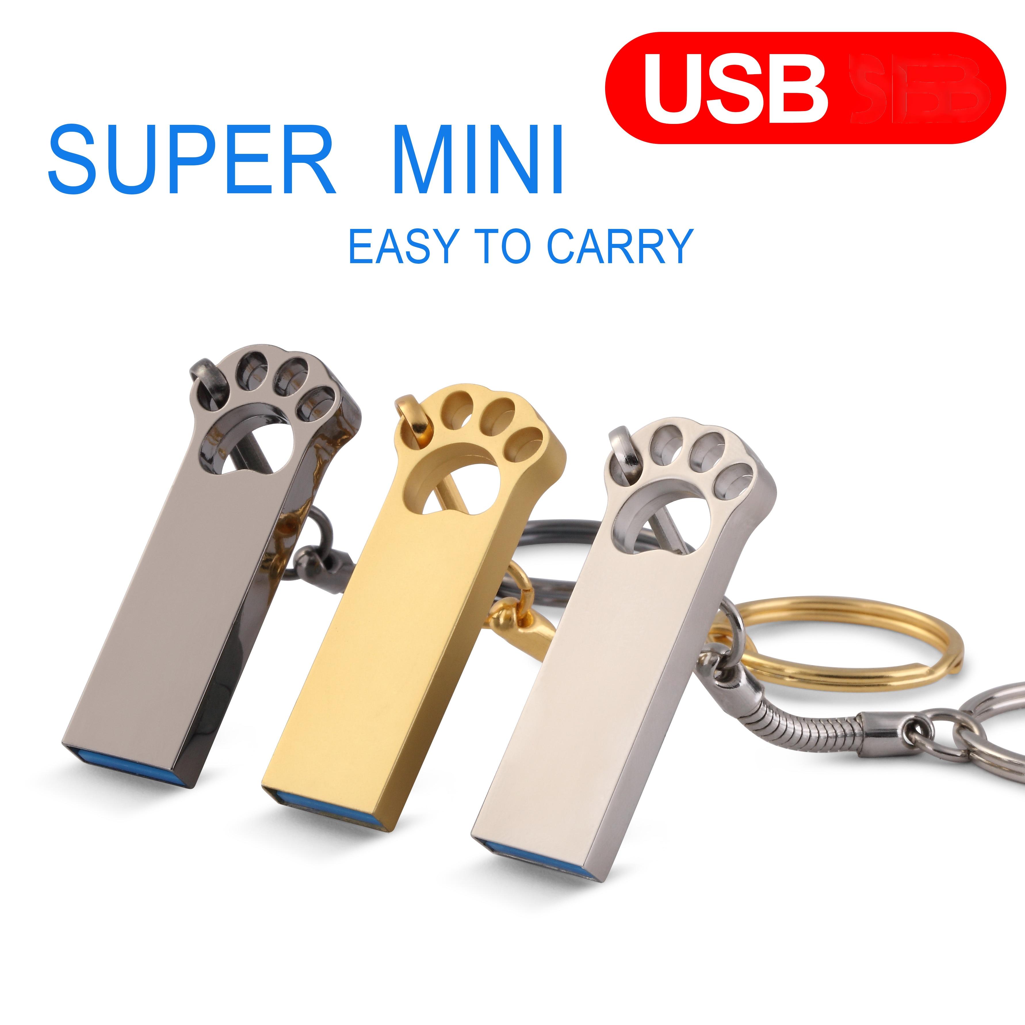 USB Flash Drive Metal Pendrive128GB High Speed USB Stick 32GB Pen Drive 64GB waterproof 16GB USB Flash 8GB 4GB Free adapter