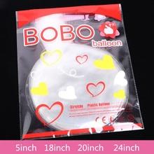 Boule ronde transparente Bobo de 50 pouces, ballon à hélium de 5/18/20/24 pouces pouvant flotter dans les airs, fournitures pour fête d'anniversaire de mariage