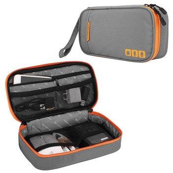 Digital llevar organizador para USB Gadget cargador de viaje portátil de iPad bolsa de auriculares accesorios electrónicos de Cables móvil