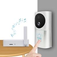 Zinc Alloy Smart Home Video Doorbell Set WiFi 1080P 160° IR Night Vision Wireless Door Bell with Motion Sensor Power Saving HD