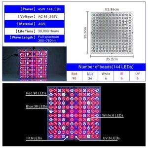 Image 3 - LED Grow Light 25W 45Wเต็มสเปกตรัมไฟAC85 265Vพืชหลอดไฟสำหรับเรือนกระจกไฮโดรโปนิกส์ดอกไม้ผัก