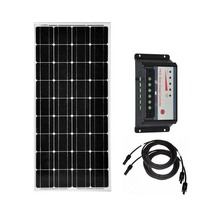 Solar Panel Kit For Home 12v 100w 200w 300w 400w Solar Battery Charger Solar Charge Controller 12v/24v 30A Rv Boat Off Grid LED