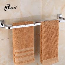 Hot Sale Bathroom Towel Double Shelf Embedded Wall Washrag Storage Shelves Silver Holders Washroom Tools