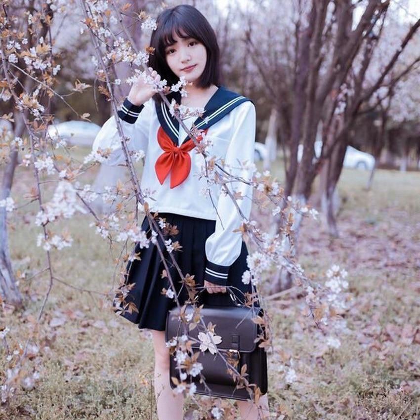 Navy Sailor Cosplay Costumes Women Girls Student High School Uniform Kawaii JK Suit Harajuku Anime Blouse+skirt Clothing Set