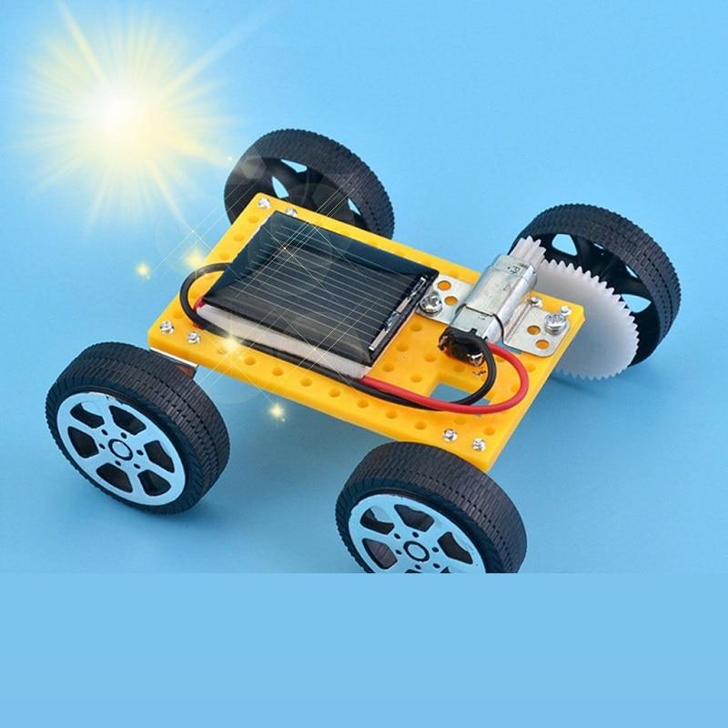 Solar Powered Toy Car Mini Solar Power Toy DIY Assembled Energy Powered Car Kit Children STEM Educational Toys Kids Novelty Gift