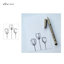 Jc Clear Stamps Flower Rubber Transparent Silicone Scrapbooking for Card Make Craft Decoration Paper Tool New Stamp 2019